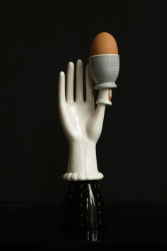 Amalia (surrealist series) Eggcup; mixed media-assemblage by Mimi Berlin © photo; by jwkaldenbach.com