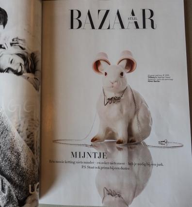 Mimi Berlin's Head Balancer in Harper's Bazaar NL Magazine, issue 3, 2014