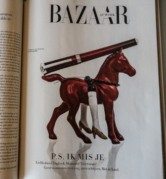 Mimi Berlin's Horseback Rider in Harper's Bazaar NL Magazine, issue 3, 2014