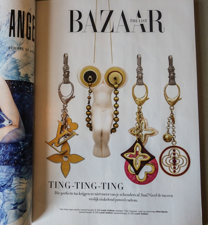 Mimi Berlin's Titty Trapeze in Harper's Bazaar NL Magazine, issue 3, 2014