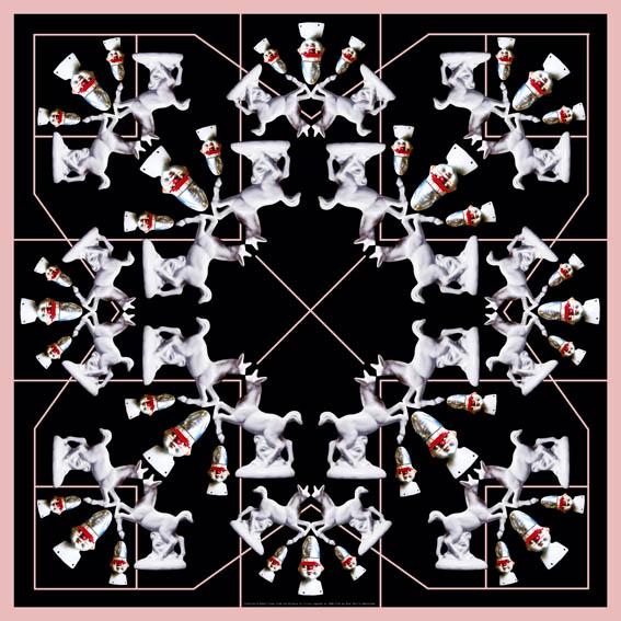 "Mimi Berlin Silk Scarf ""Stallion"" 90 x 90 cm"